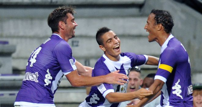 Toulouse celebrate against St Etienne