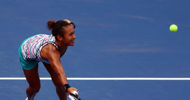 Heather Watson: managed to fight her way into a 3-1 lead in the second set