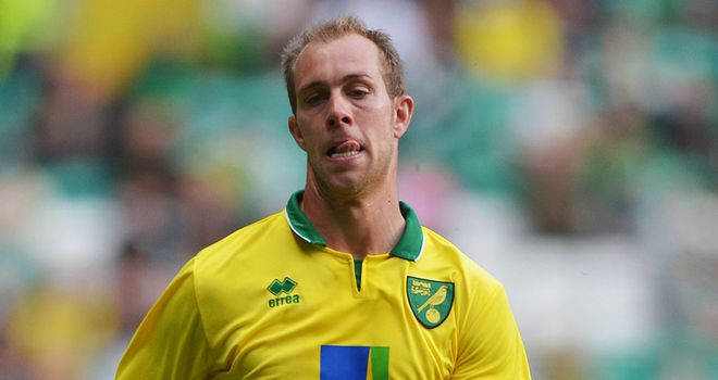 Steven Whittaker: Made his Premier League debut for Norwich in Saturday's 1-0 win against Stoke.