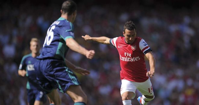 Santi Cazorla: Would have preferred it if Robin van Persie had stayed at Arsenal