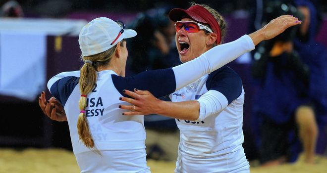 Jennifer Kessy and April Ross: battled back to beat the Brazilian pair