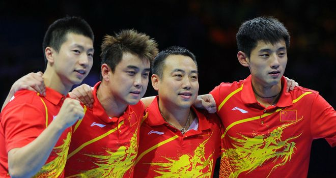 China: men's team saw off South Korea 3-0 in a one-sided final