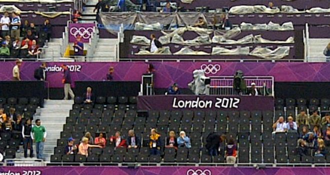 Empty seats caused early embarrassment at the London Olympics