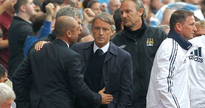 Roberto Di Matteo: Chelsea boss says Roberto Mancini&#39;s Manchester City are Premier League title favourites