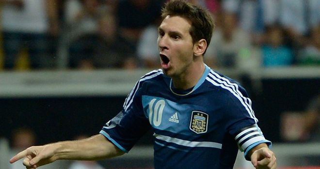 Lionel Messi: Missed a penalty but then scored against Germany in Argentina&#39;s 3-1 win