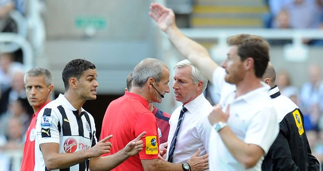 Alan Pardew: The Newcastle manager has apologised for being pushing a referee's assistant