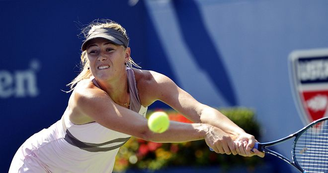 Maria Sharapova: Swept to victory after a rain break