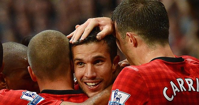 Robin van Persie: The £24million signing from Arsenal scored in style on his home debut for Manchester United