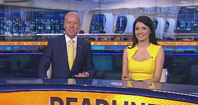 Jim White Left And The Famous Tie That Has Become Synonymous With Sky Sports