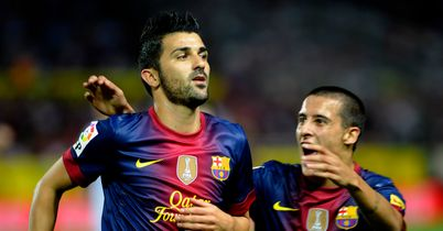 David Villa: Reached landmark goal on Wednesday night