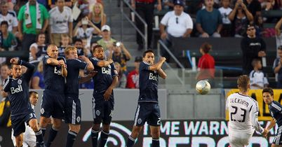 Beckham: Scored superb free-kick for Galaxy