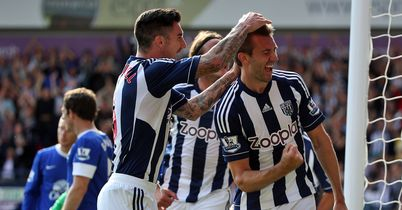 McAuley: Celebrates West Brom's second