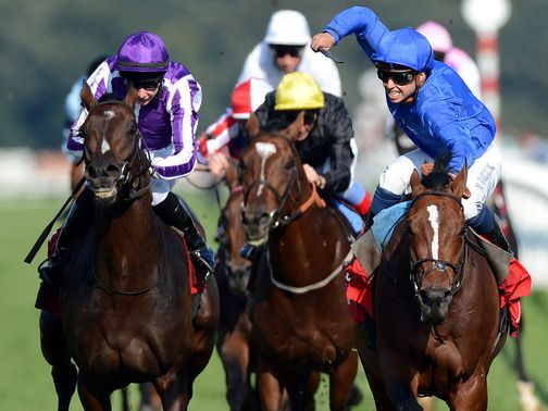 Encke (r) beats Camelot in the St Leger