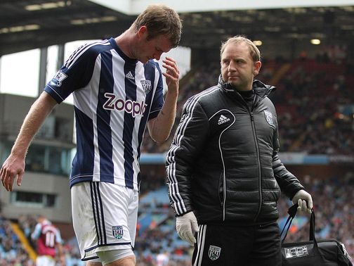 Chris Brunt: Suffered hamstring injury at Villa