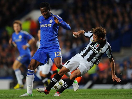 John Obi Mikel in action against Juventus