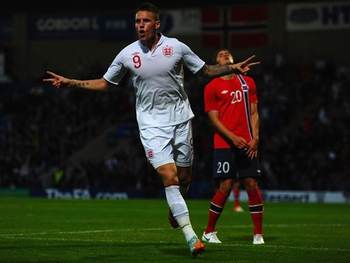 Connor Wickham scored the only goal of the game for England Under-21s against Norway.