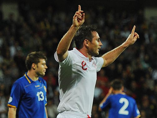 Frank Lampard: Two goals against Moldova