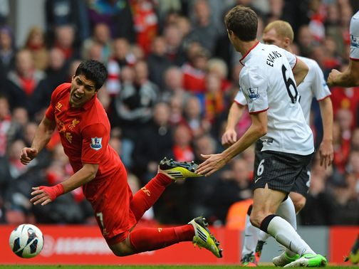 Suarez: Didn't win a penalty against United