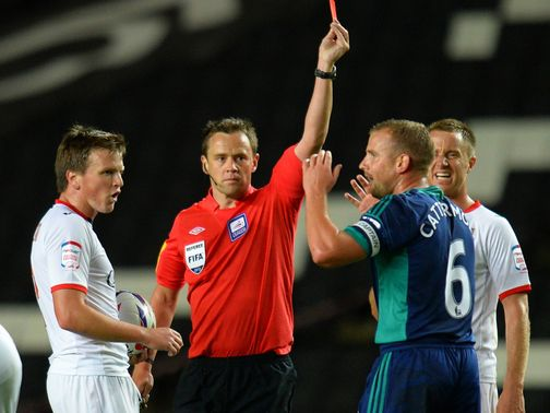 Lee Cattermole: Saw red against MK Dons