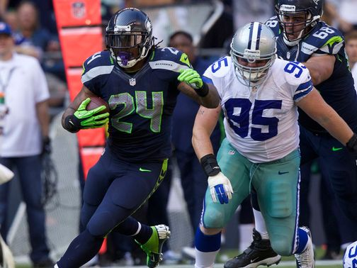 Marshawn Lynch: 122 rushing yards