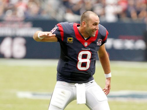 An ecstatic Matt Schaub as Houston dominated the Titans