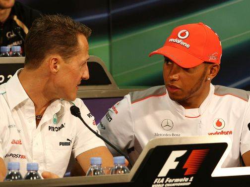 Michael Schumacher: Says Lewis Hamilton has joined a team on the up