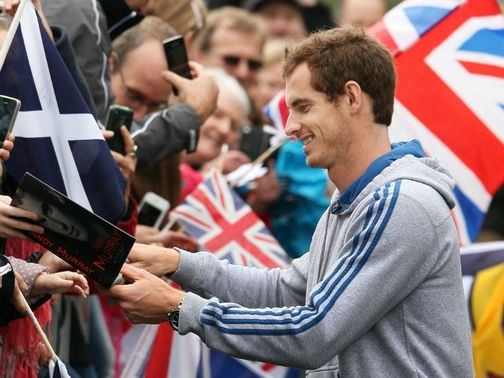 Andy Murray: Signs autographs in Dunblane