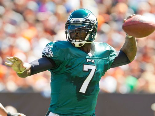 Vick: Faces a tough test against the Steelers defense