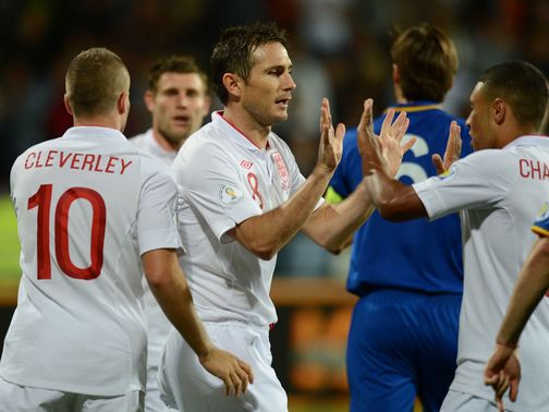Frank Lampard: Two goals in England romp