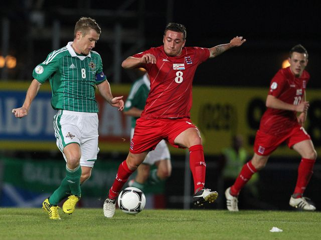 Steven Davis (left): Ready for Russia test