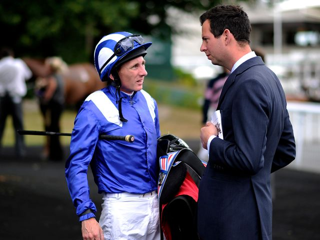 Paul Hanagan (left) was aboard the winner