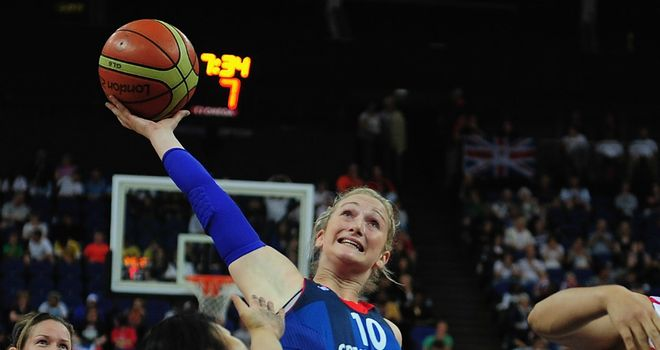 Amy Conroy: top scored for Great Britain with 22 points