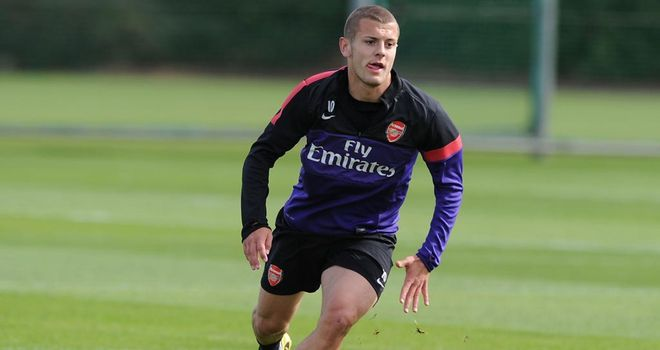 Jack Wilshere: Arsenal midfielder made his long-awaited return to training on Thursday after 14-month injury nightmare