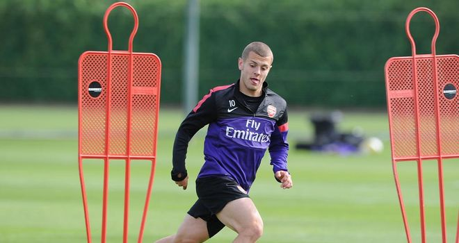 Jack Wilshere: Now back in training with the Arsenal first team