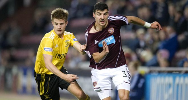 Docherty and Paterson: Battling for the ball