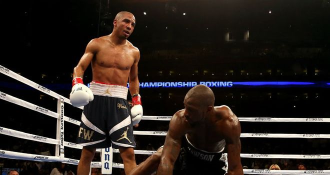 Andre Ward: had WBC light heavyweight champion Dawson on the canvas three times