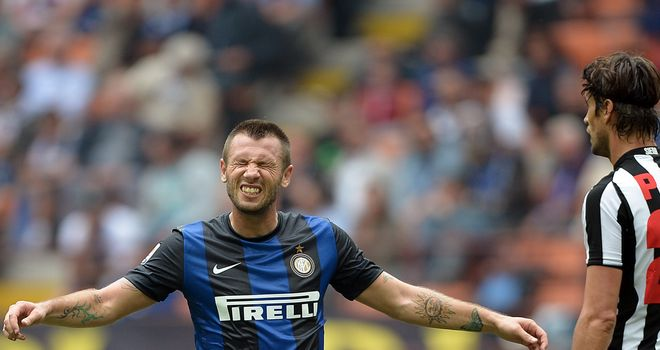 Antonio Cassano: Inter have appealed against his two-match ban
