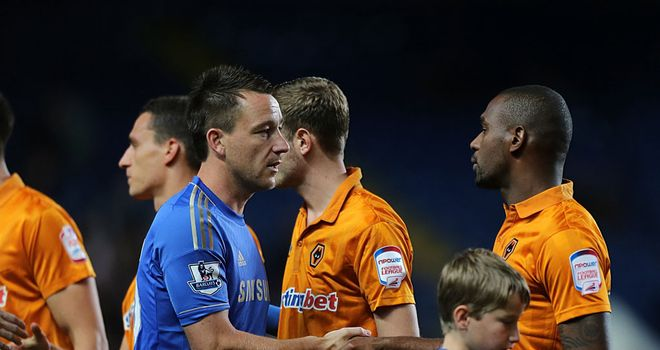 John Terry: Cleared to face Wolves in the Capital One Cup just hours before kick-off after his FA hearing