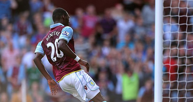 Christian Benteke: Knows he has to continue working hard after his debut goal for Aston Villa