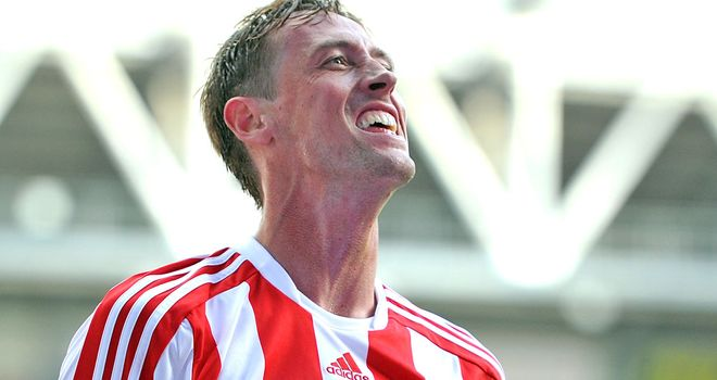 Peter Crouch: Five goals for Stoke City but is not thinking about an England recall