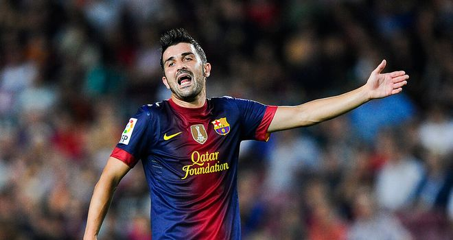David Villa has been frustrated by a lack of game-time at Barca