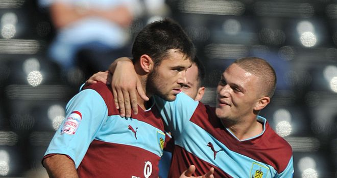 Charlie Austin (left): His goals for Burnley have dried up