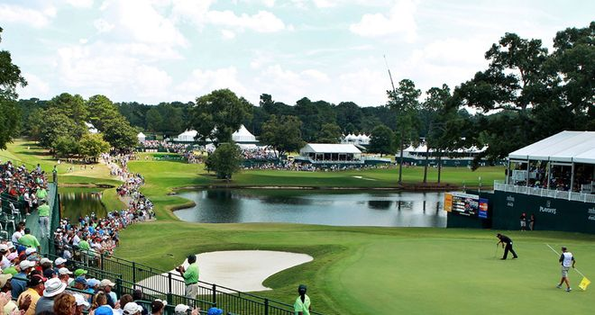 The 18th at East Lake could be in for huge drama on Sunday