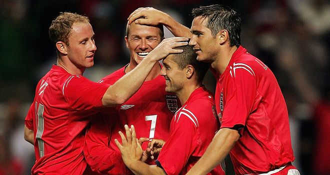 David Beckham and Michael Owen: Played together for England during the Noughties