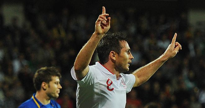 Lampard: above Sir Geoff Hurst in England's all-time top scorer's list