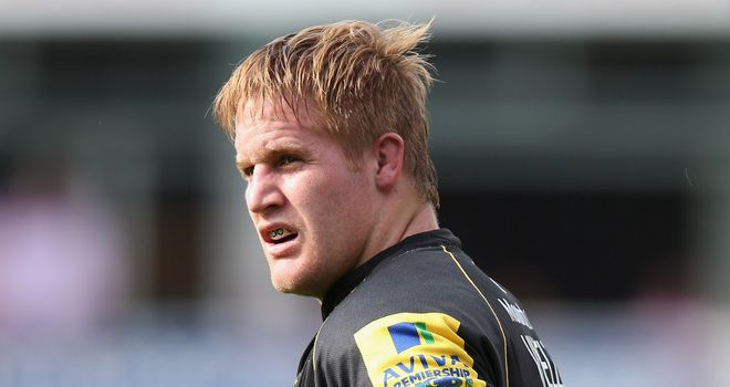 Van Velze: the South African scored a try as Northampton defeated Exeter