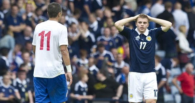 James Forrest: Winger out with groin injury