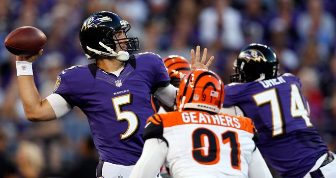 Joe Flacco: Starred in an easy Ravens victory