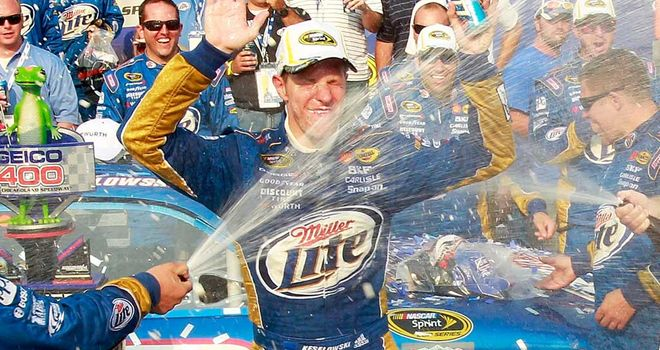 Brad Keselowski: Celebrates his first Sprint Cup title