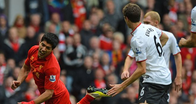Luis Suarez: jumping before he is pushed?